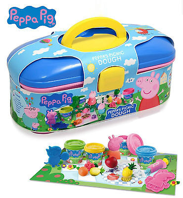 Peppa Pig Picnic Dough Activity Play Creativity Set In Carry Case Toys PEPP004