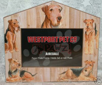 AIREDALE TERRIER - Dog House Pet Photo PICTURE FRAME