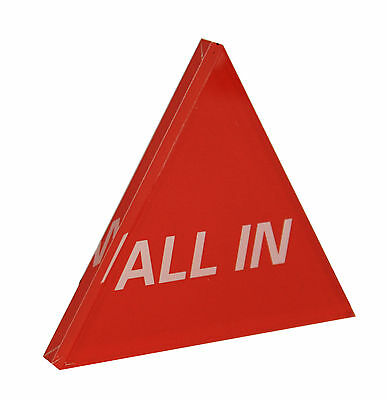Acrylic All In Button Casino Quality Triangle Dealer Button Large Red