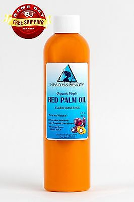 """Palm Oil """"Red"""" Extra Virgin Unrefined Organic Carrier Cold Pressed Pure 8 Oz"""