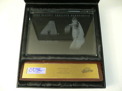 2003 Playoff Absolute Memorabilia CURT SCHILLING #06/25 Signed Etched Glass MLB