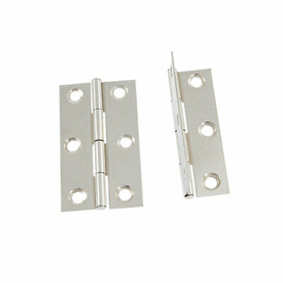 Cabinets Doors Interior 4 Pcs Offset Hinges Silver Tone