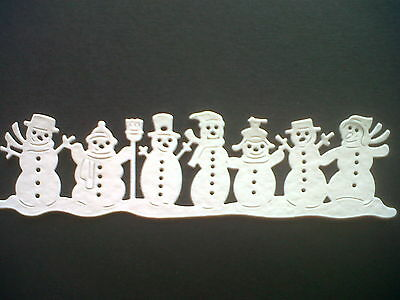 10 Fabulous Snowmen Border Die Cuts, For Christmas Cards/toppers
