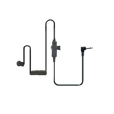 14 inch Coil Tube Earbud Audio Kit for Two-Way Radios 3.5mm (Black Edition)