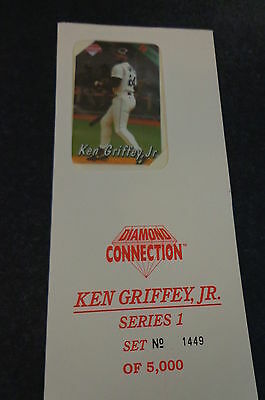 1994 Diamond Connection 1 of 5 Ken Griffey Jr Phone Cards Sealed #1449 of 5000 b