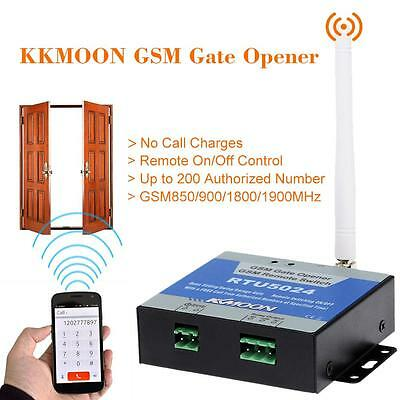 KKMOON GSM Door Gate Opener Remote On/Off Switch Free Call SMS Command 5DY6