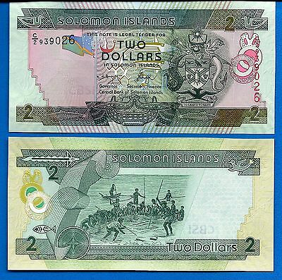 Solomon Islands P-25 Two Dollars Year ND 2004 Unc FREE SHIPPING