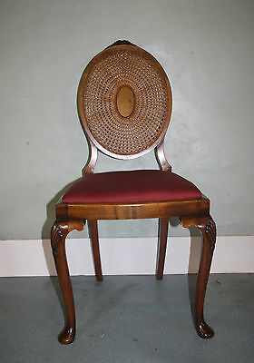 Very pretty walnut bergere cameo chair 1930s bedroom salon side cane