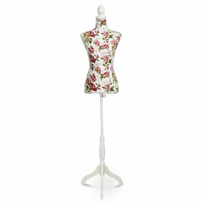 Goplus Female Mannequin Torso Dress Form Display W/ White Tripod Stand New
