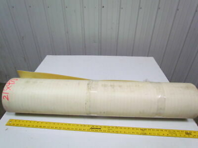 2 ply smooth top Clear/White urethane rubber conveyor belt 21ft x 47-1/8""