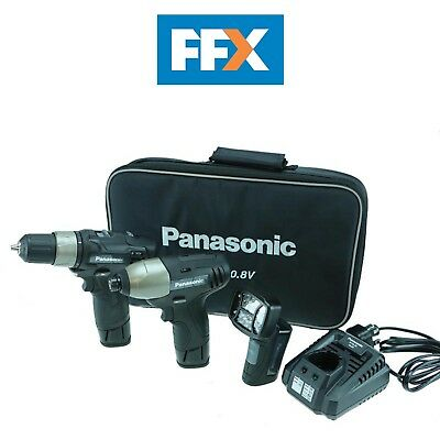 Panasonic EYC110LA231 10.8v Drill Impact Driver and Torch 2 x 1.5ah