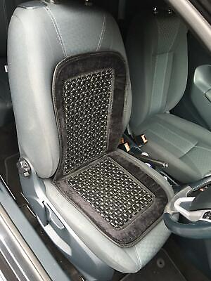 Black New Quality Wooden Massaging Beaded Air Permeable Back Support Car Cushion