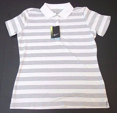 Nike golf small woman polo shirt blue striped new with for Texas a m golf shirt