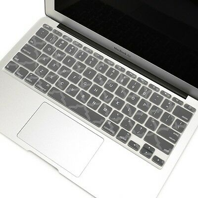 "Gray Quatrefoil Keyboard Cover  Skin for New Macbook Air 11"" Model A1465"
