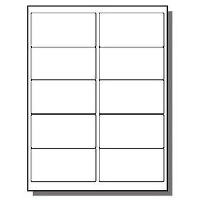 """60000 Premium Laser/Inkjet  Labels 2 x 4""""  10 Per Page Uses # 5963 Template"""