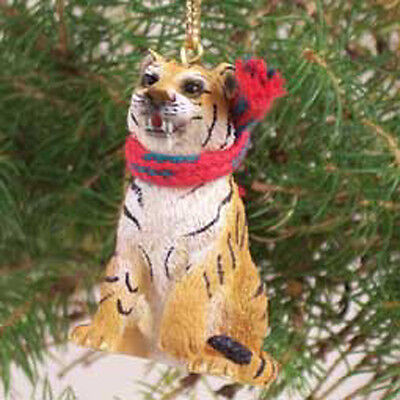 TIGER with Scarf Tiny One Miniature Christmas ORNAMENT