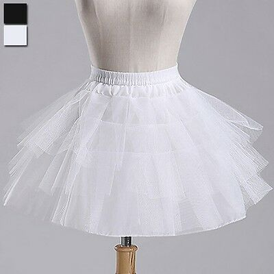 New Bridal Wedding Dress Skirt Slip Petticoat Crinoline Underskirt Short Tutu