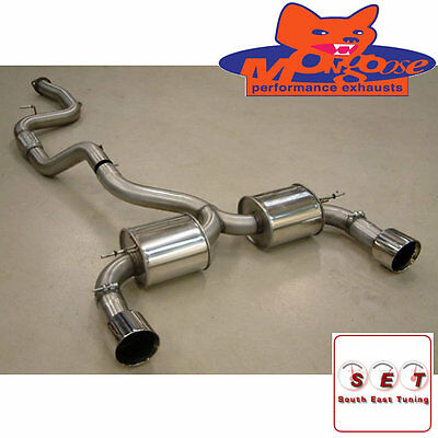 """Mongoose Ford Focus RS MK2 Section 59 Cat Back Exhaust 3"""""""