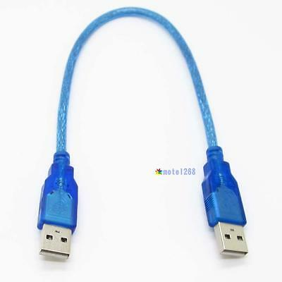2016 30cm USB 2.0 Type A Male to USB Male Cord Adapter Data Extension Cable