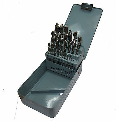 Rdgtools 25Pc Hss Precision Ground 1 - 13Mm Drill Set Drillng Engineering Tools