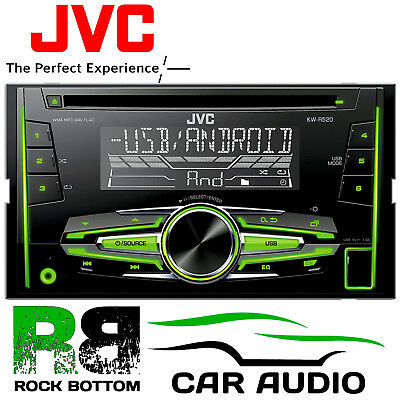 JVC KW-R520 Double Din CD AUX In MP3 USB Android Car Stereo Radio Player REFURB