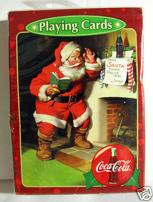 Playing Cards Coca-Cola Christmas Santa With Book Sealed Box Bicycle Brand