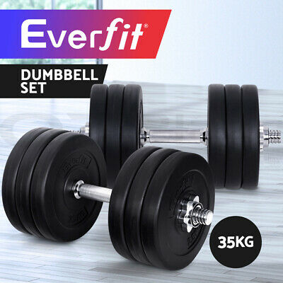 Dumbbell Set Everfit Weight Dumbbells Plates Home Gym Fitness Exercise 35KG