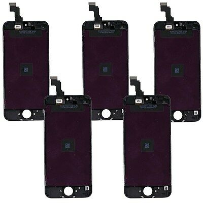 Wholesale 5x For iPhone 5C Digitizer LCD Touch Screen Replacement Assembly Black