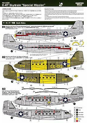 """RD44006/ Rocketeer Decals - C-47 Skytrain - """"Special Mission"""" - 1/144 - TOPP"""