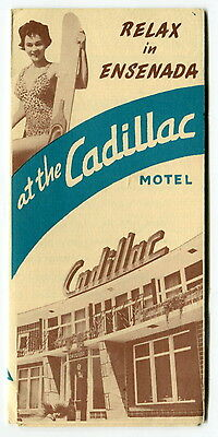 "Vintage Advertising Brochure: ""CADILLAC MOTEL"" [Ensenada, Mexico]"