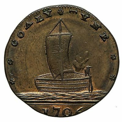 Northumberland Newcastle Spence`s Farthing Token 1796  Coaly Tyne / Odd Fellows