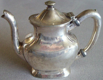 Rock Island Lines Railroad International Silver Soldered Covered Teapot 3/4 Pint