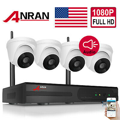 ANRAN 8CH NVR Audio Wireless Security Camera System 1080P HD WIFI Outdoor CCTV