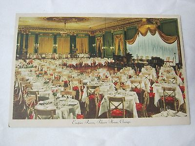 The Palmer House Chicago Hotel Dining And Shows Vintage Postcard   T*