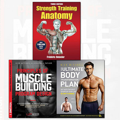 Strength Training Anatomy,Your Ultimate Body 3 Books Collection Set Principles