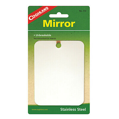 Coghlans Stainless Steel Mirror - Unbreakable Great For Camping (Cog 714)