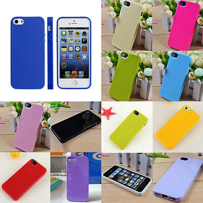 New Protective Silicone Soft Rubber TPU Skin Case Cover For iPhone 5 5G 5S SE