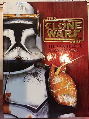 Star Wars The Clone Wars Complete Season 1 One 1st First 4-DVD Box Set Hardcover