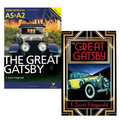York Notes for AS & A2 & The Great Gatsby Collection 2 Books Set New Paperback