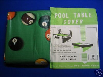 Pool Ball Design Table Cover Fits Up To 8' Weighted