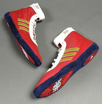 NEW Adidas JO Combat Speed 4 Wrestling Shoes B34744 Red/Gold/White (Retail $82)