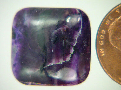 BUTW Genuine African Sugilite 11 ct Rectangle Cabochon Lapidary Gemstone 9976K