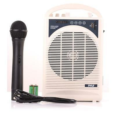 New Portable Bluetooth Karaoke PA Speaker Amplifier & Microphone Handheld Mic