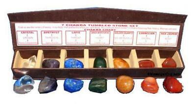 Chakra Stones Boxed Set with optional Chakra Reference Guide Poster, FREE Ship!