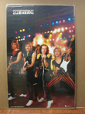 Vintage Scorpions poster music rock and roll  band  West Germany print 8266