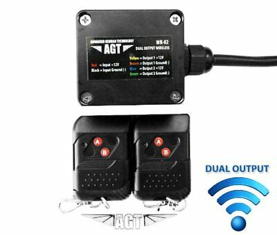 AGT 12V Waterproof Wireless Remote Control DC Universal 2-Channel Output Works