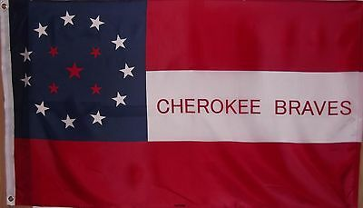 Cherokee Braves Flag - New 3X5 Polyester Historical Csa