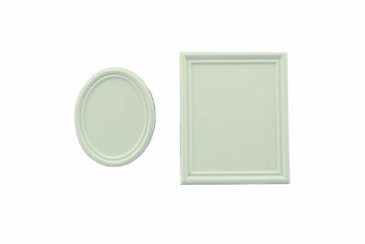 Pack of 2, Oval & Round Dolls House Picture Frames 12th Scale Miniaturists A1007
