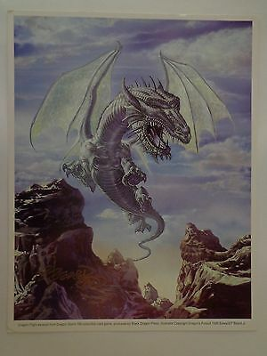 Dragon Flight excerpt Dragon Storm Litho Autographed Edward P Beard Jr. 1996 COA