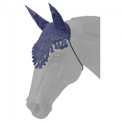 2 Tough-1 Fly Veil's w/ Fringe  --Navy  --Horse Size  --NWT